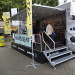 Der E.Bike-Truck: hier konnten E-Bikes für eine Probefahrt ausgeliehen werden