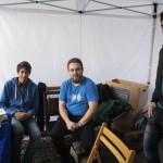 Die Freifunker, die für ein freies WLAN-Netz auf dem Wirteltorplatz sorgten