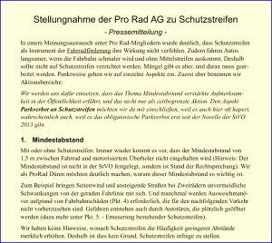 Stellungnahme Schutzstreifen (veraltet)