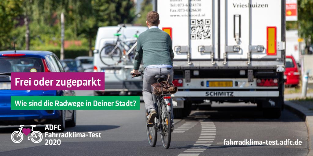 Frei oder zugeparkt, wie sind die Radwege in deiner Stadt